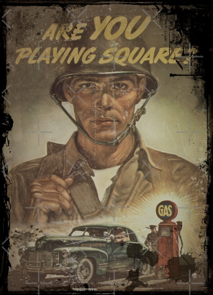 Are You Playing Fair - Gas Rationing by diane  addis