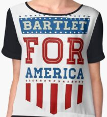 Bartlet for America Women's Chiffon Top