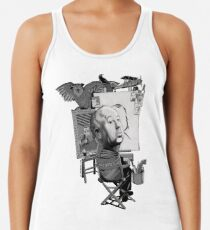Alfred Hitchcock Racerback Tank Top