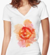 Hoshido Royal Crest Watercolor Women's Fitted V-Neck T-Shirt