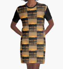Beach Attractions Graphic T-Shirt Dress