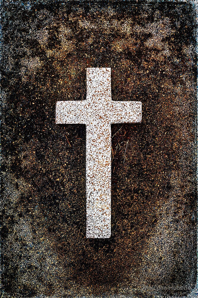"""Graveyard Adornments #36 -  """" The Cross """" by Malcolm Heberle"""