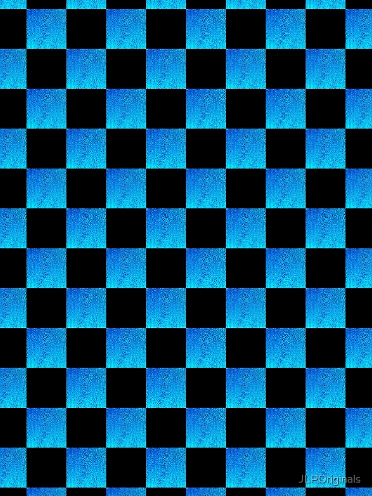 BOLD BLUE AND BLACK CHECKERED DESIGN by JLPOriginals