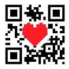 QR Code Heart Love Message  by CroDesign