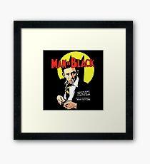 Man In Black Suit Framed Print