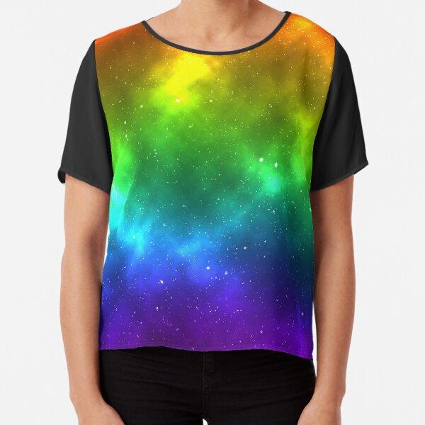 Rainbow LGBTQ Pride Flag Space Design Chiffon Top