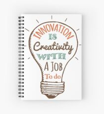 Innovation is Creativity Spiral Notebook