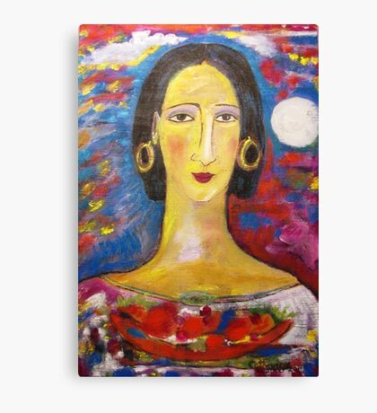 """""""Isabella with fruit""""  Canvas Print"""
