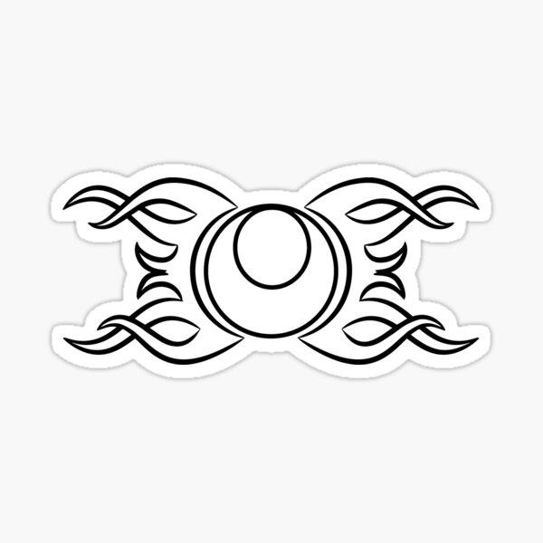 Tribal Moon Sticker
