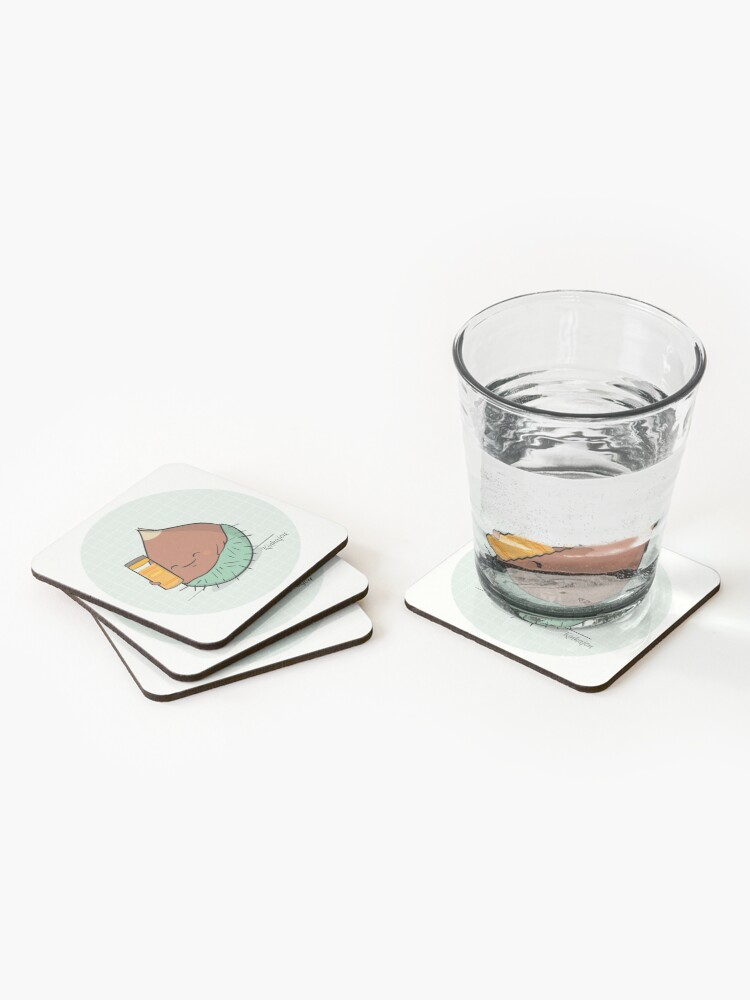 Dessous de verre (lot de 4) ''Kinkajou - Kuri-Kuri Curry': autre vue