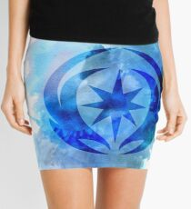 Vallite Royal Crest Watercolor Mini Skirt