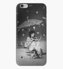 Tea Party with girl and French Bulldog on the Moon iPhone Case