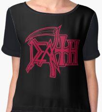 Death Logo Chiffon Top