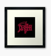 Death Logo Framed Print