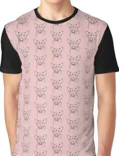cute french bulldog face Graphic T-Shirt