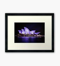 Violet Opera Framed Print