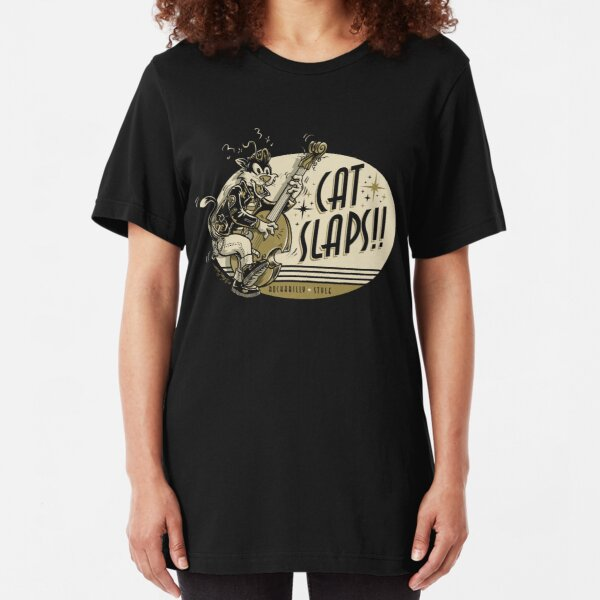 Cat Slaps Slim Fit T-Shirt