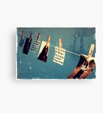 You got a little faded with time Canvas Print