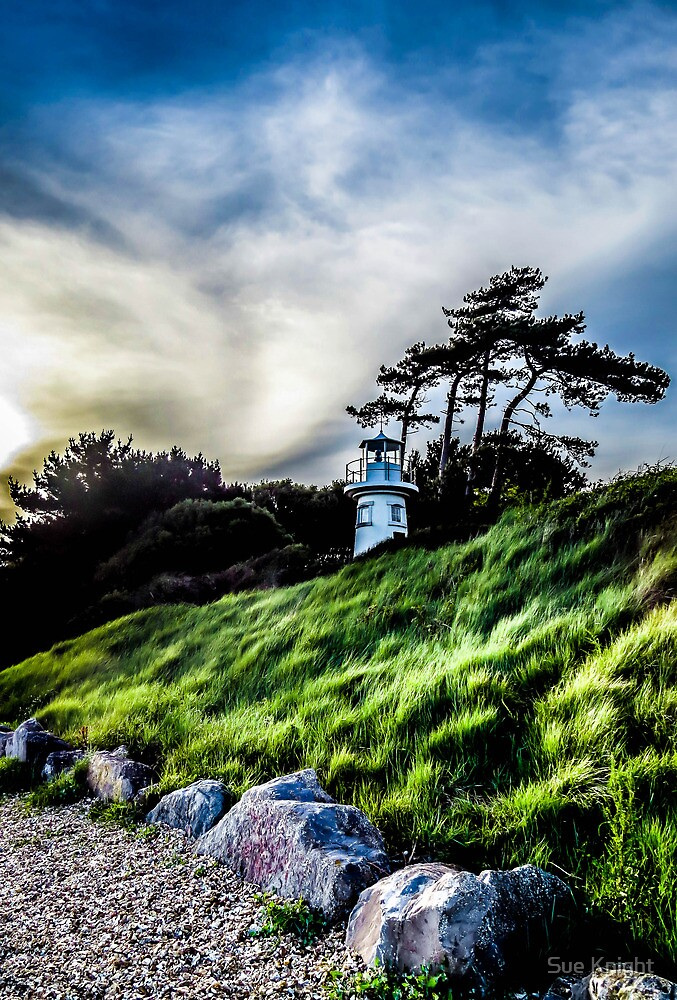 The Light house at lepe in high colour by Sue Knight