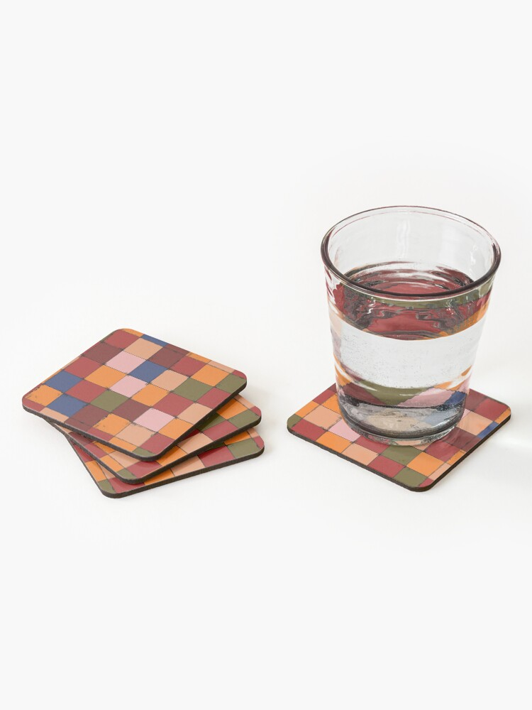 Alternate view of Winter Checkboard Coasters (Set of 4)
