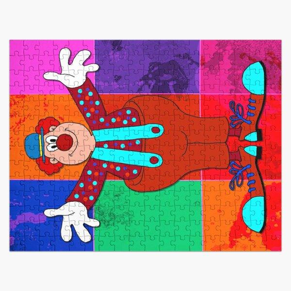 Legakulie Clown kariert orange Puzzle