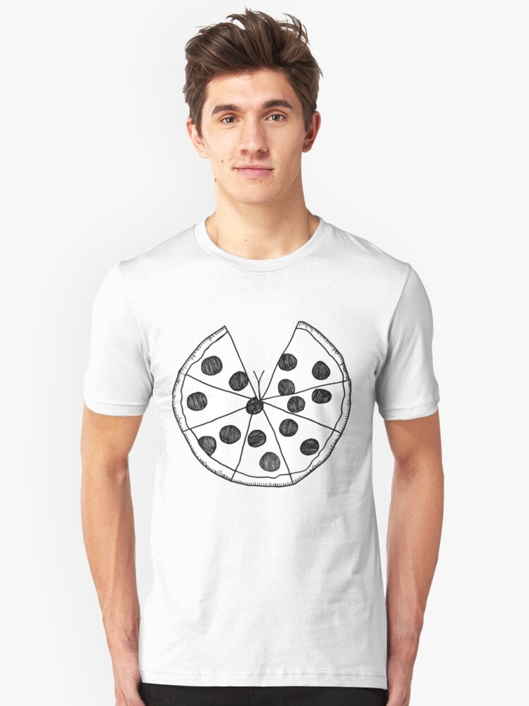 Pizza Cleavage Unisex T-Shirt Front