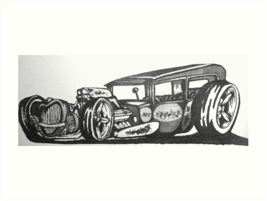 sick rat rod original style hot rod ford by Nathanial Lairmore