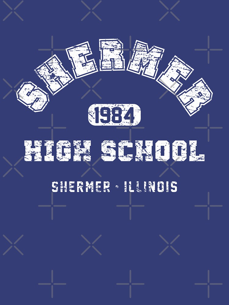 Shermer High school 1984 (worn look) | Unisex T-Shirt