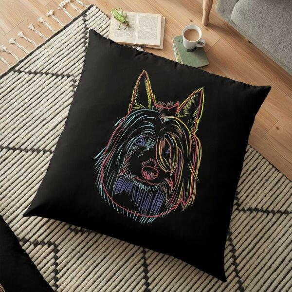 Colorful Dog Australian Silky Terrier  Floor Pillow