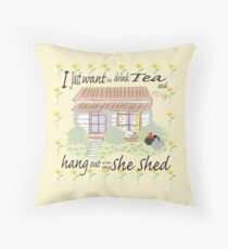 She Shed Throw Pillow