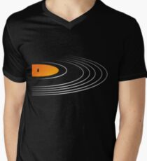Music Retro Vinyl Record  Men's V-Neck T-Shirt