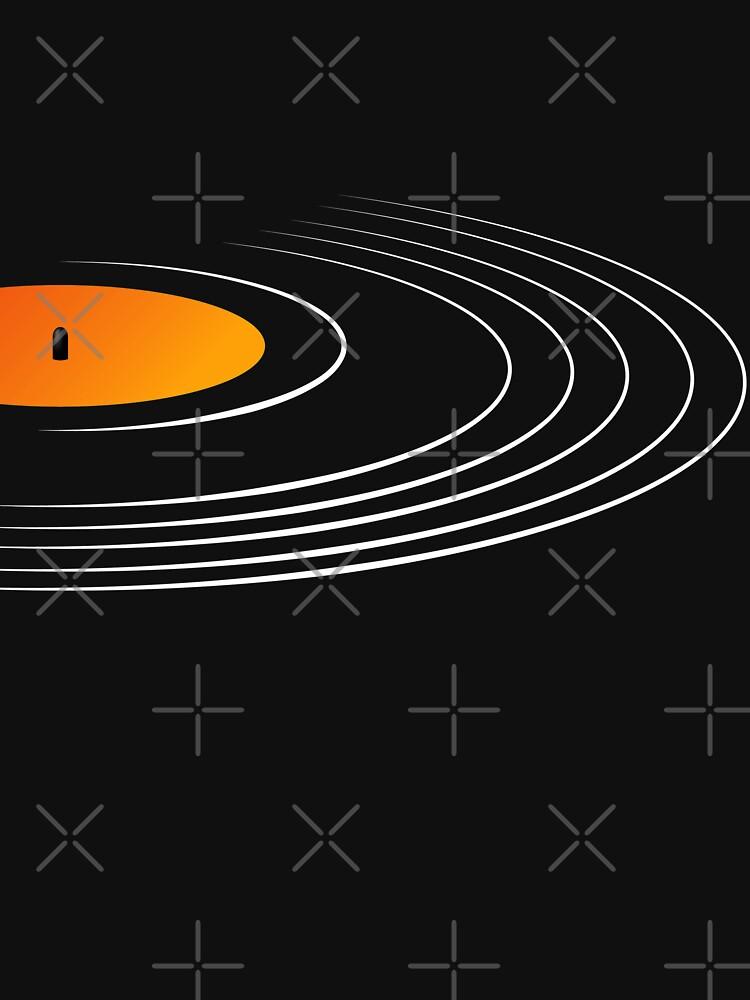 Music Retro Vinyl Record  by CroDesign