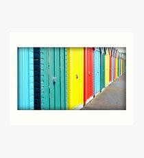 Bournemouth rainbow Art Print