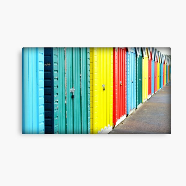 Bournemouth rainbow Canvas Print