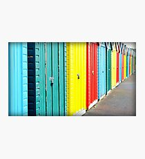 Bournemouth rainbow Photographic Print