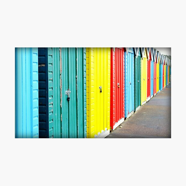 Bournemouth rainbow Photographic Print