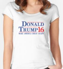Donald Trump 16 Make America Great Again! Women's Fitted Scoop T-Shirt