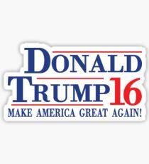 Donald Trump 16 Make America Great Again! Sticker