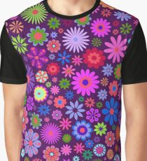 Garden Colorful Flowers  Graphic T-Shirt