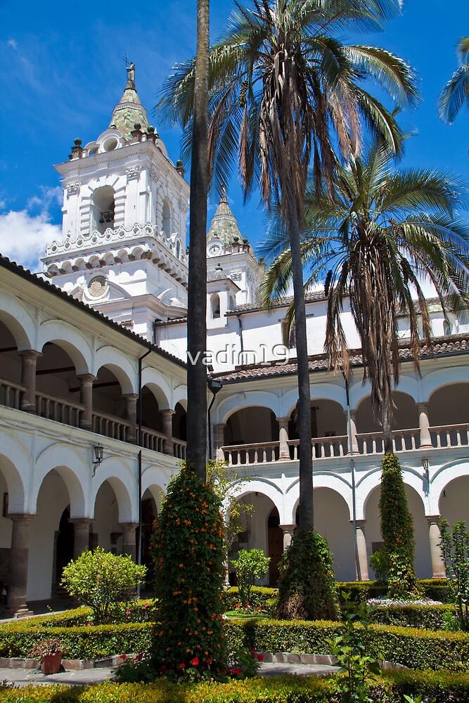 Ecuador. Quito. Church of San Francisco. Cloister. by vadim19