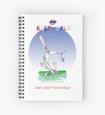 Keep Calm and keep your head - tony fernandes Spiral Notebook
