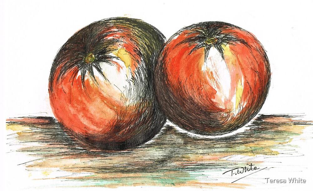 Juicy Ripened Tomatoes by Teresa White