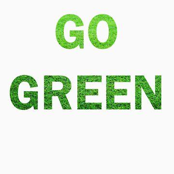 """Wording """"GO GREEN"""" made from green grass photo by newbietraveller"""
