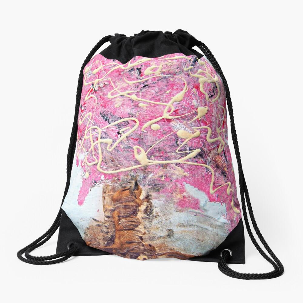 Cherry Tree Drawstring Bag