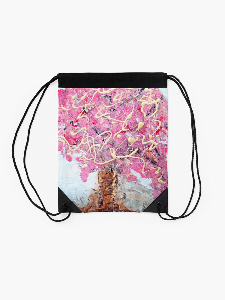 Alternate view of Cherry Tree Drawstring Bag
