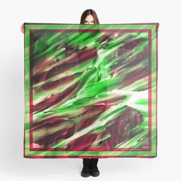 E S C_12 GREEN & ROSE Scarf