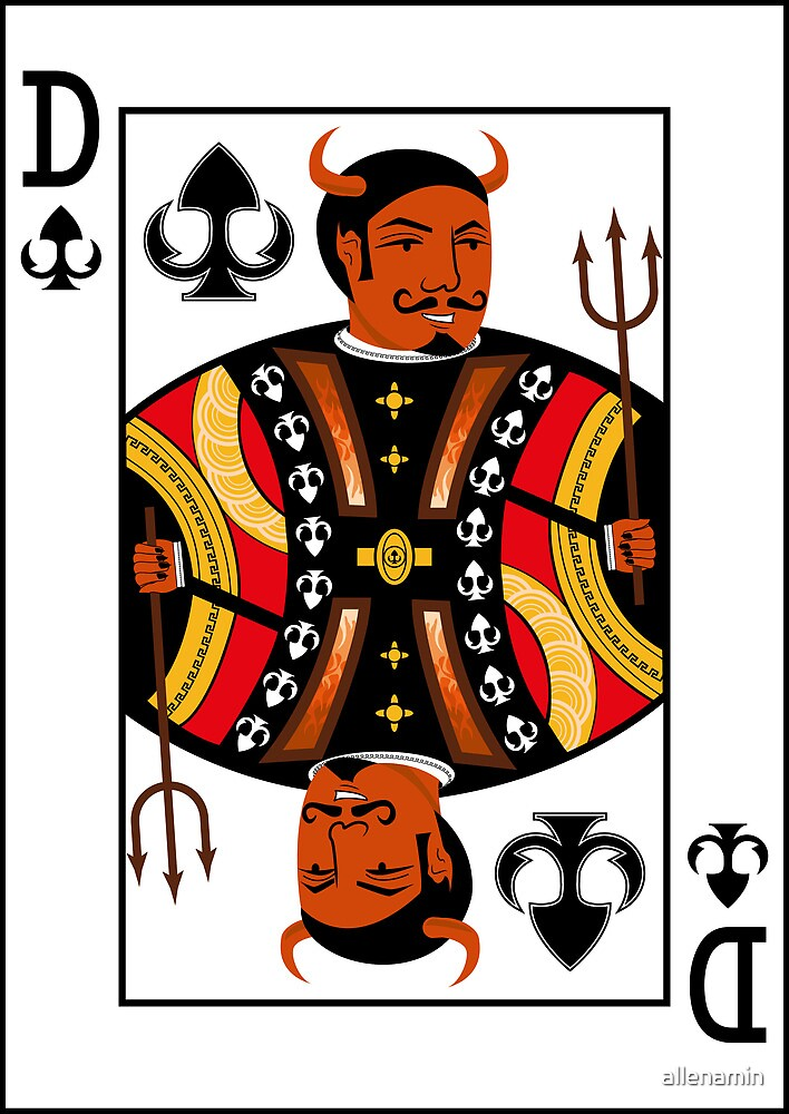 Devil of Forks Playing Card by allenamin