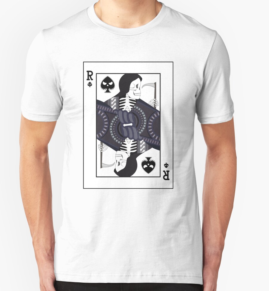 quotgrim reaper playing cardquot tshirts amp hoodies by allenamin