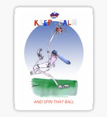 Keep Calm and spin that ball - tony fernandes Sticker