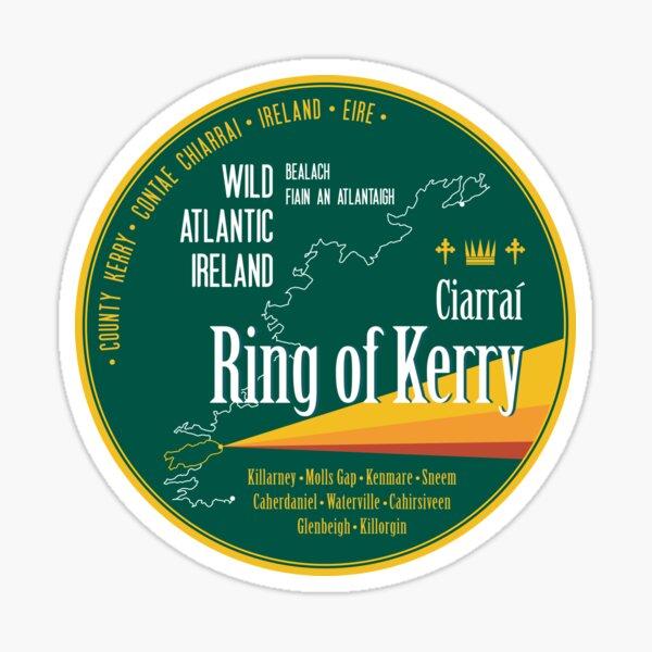 Wild Atlantic Way Ring of Kerry Ireland T-Shirt Sticker  Sticker